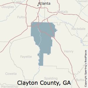 Best Places To Live In Clayton County Georgia - Map of counties in georgia