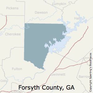 Forsyth Georgia Map.Best Places To Live In Forsyth County Georgia