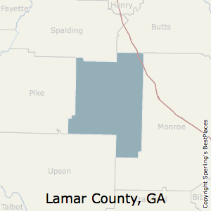 Lamar,Georgia County Map
