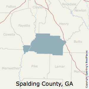 Spalding,Georgia County Map