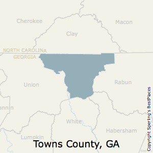 Towns,Georgia County Map