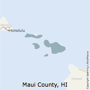 Maui,Hawaii County Map