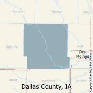Dallas,Iowa County Map