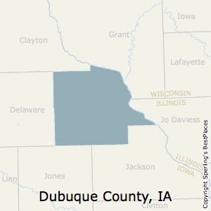 Dubuque,Iowa County Map