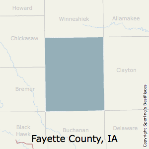 Fayette,Iowa County Map