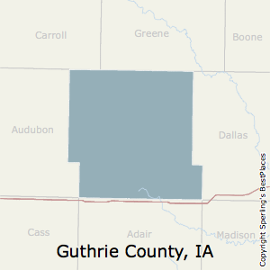 Guthrie,Iowa County Map
