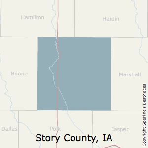 Story,Iowa County Map