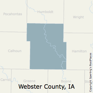 Webster,Iowa County Map