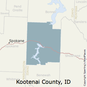 Kootenai,Idaho County Map