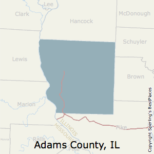 Adams,Illinois County Map