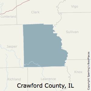 Crawford,Illinois County Map
