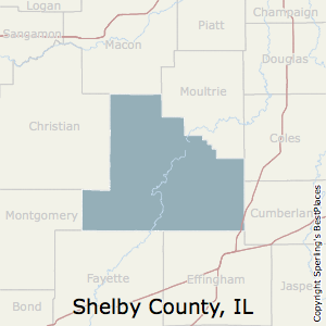 Shelby,Illinois County Map
