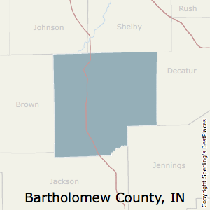 Bartholomew,Indiana County Map