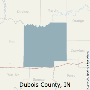 Dubois,Indiana County Map