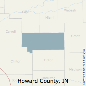 Howard County Indiana Map.Best Places To Live In Howard County Indiana