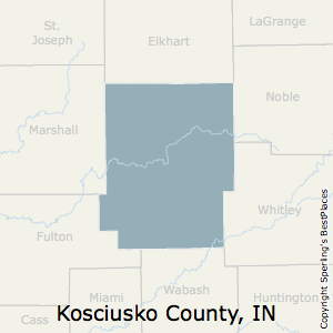 Kosciusko,Indiana County Map