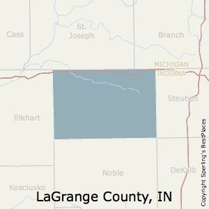 LaGrange,Indiana County Map