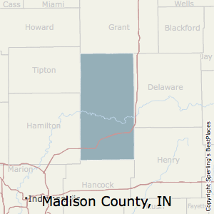 Madison,Indiana County Map