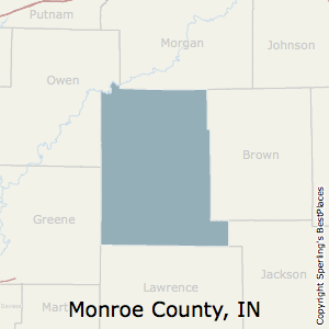 Monroe,Indiana County Map