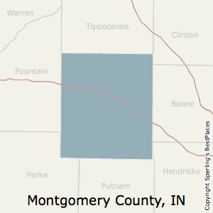 Montgomery,Indiana County Map