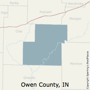 Owen,Indiana County Map