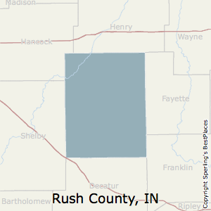 Rush,Indiana County Map