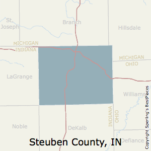 Steuben,Indiana County Map