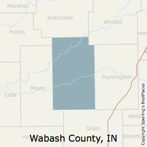 Wabash,Indiana County Map