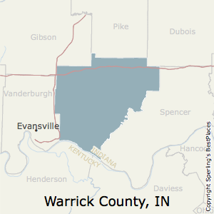 Warrick,Indiana County Map