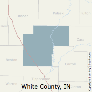 White,Indiana County Map