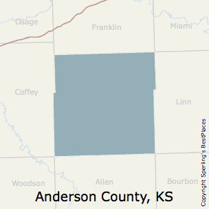Anderson,Kansas County Map
