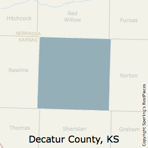 Decatur,Kansas County Map