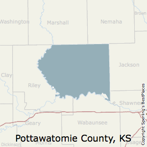 Pottawatomie,Kansas County Map