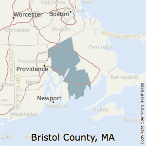 Bristol,Massachusetts County Map