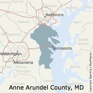Anne_Arundel,Maryland County Map