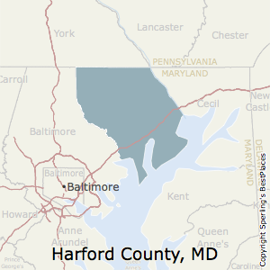 Harford,Maryland County Map