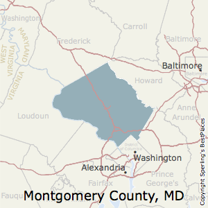 Montgomery,Maryland County Map