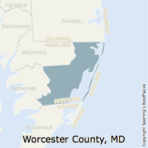 Worcester,Maryland County Map