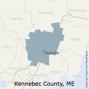 Kennebec,Maine County Map
