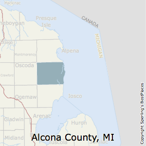 Alcona,Michigan County Map