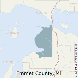 Emmet,Michigan County Map