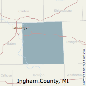 Ingham,Michigan County Map