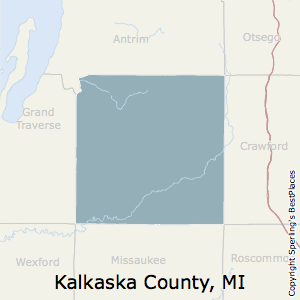 Kalkaska,Michigan County Map