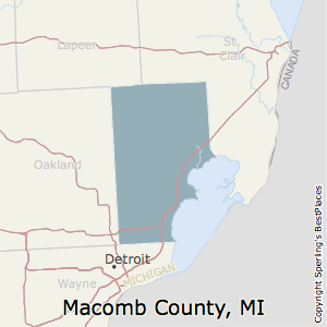 Macomb,Michigan County Map