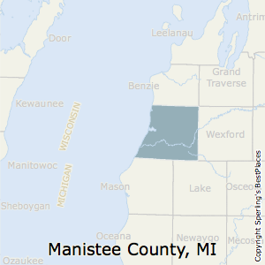Manistee,Michigan County Map