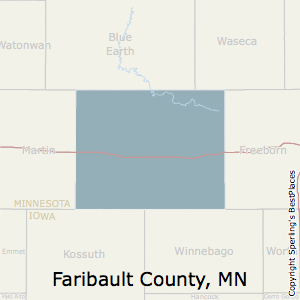 Faribault,Minnesota County Map