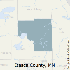 Itasca,Minnesota County Map
