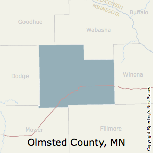 Olmsted,Minnesota County Map