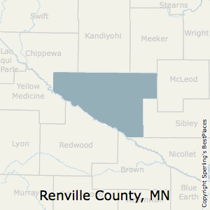 Renville,Minnesota County Map