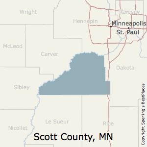 Scott,Minnesota County Map